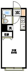 エスプリ片倉A[2階]の間取り