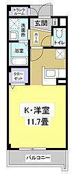 エレガンテフィールドII[3階]の間取り