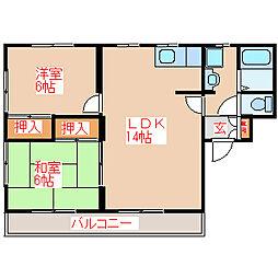 ランデックス21 A棟[2階]の間取り