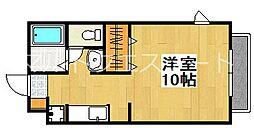 カーサエルレーブ[1階]の間取り