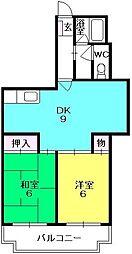 グリーンマンション(西田町)[302号室]の間取り