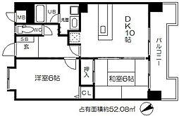日宝サンフラッツ東平[6階]の間取り