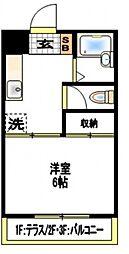 エリール岩崎[2階]の間取り