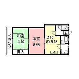 宮脇マンションII[301号室]の間取り
