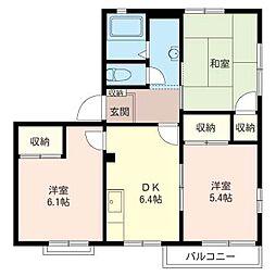 コーポ井上B[2階]の間取り