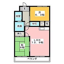 フォレストサイドK[2階]の間取り