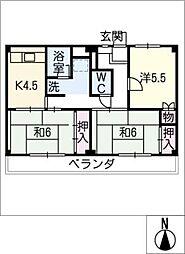 ビレッジハウス横根 4号棟[2階]の間取り