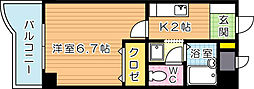 カサーレ三ヶ森[4階]の間取り