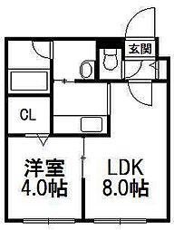 La Hija(ラ ヒハ)[1階]の間取り