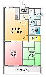 三重県津市香良洲町高砂の賃貸アパートの間取り