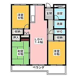 島田橋住宅2号棟[12階]の間取り