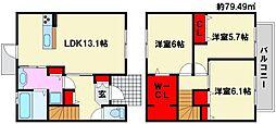 D-room和田[103号室]の間取り