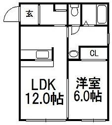スライブベアー1−1[205号室]の間取り