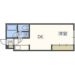 北海道札幌市北区北二十三条西6丁目の賃貸マンションの間取り