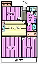第3小池ビル[406号室]の間取り
