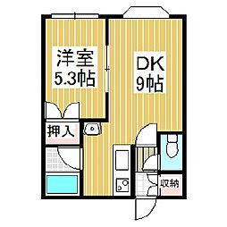 レジデンス弥生[2階]の間取り