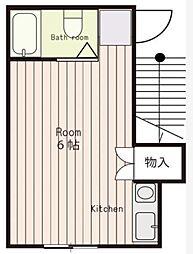 ハイツ上福岡A棟[2階]の間取り