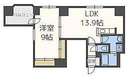 北海道札幌市東区北二十三条東1丁目の賃貸マンションの間取り