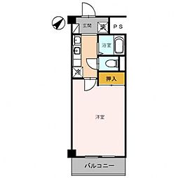 第2コーポ朝倉[107号室号室]の間取り