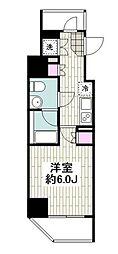 SYFORM YOKOHAMA-ODORIKOEN 2階1Kの間取り