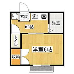 京都府京都市伏見区深草小久保町の賃貸アパートの間取り