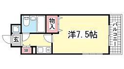 ライオンズマンション三宮東第2[415号室]の間取り