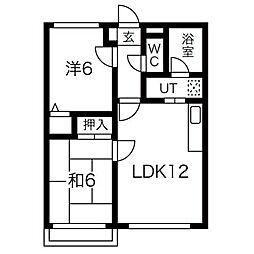 北海道札幌市中央区南十五条西16丁目の賃貸マンションの間取り