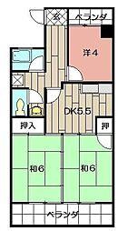 第8岡部ビル[602号室]の間取り