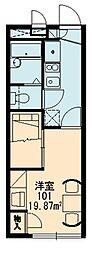 レオパレスおおやぶ2[2階]の間取り