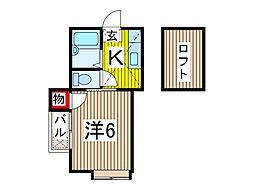 埼玉県川口市芝5丁目の賃貸アパートの間取り