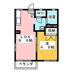 ニアステーション A[2階]の間取り