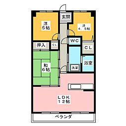 宝マンション神宮南 1020号[10階]の間取り