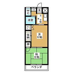 レジデンス大和3番館[2階]の間取り