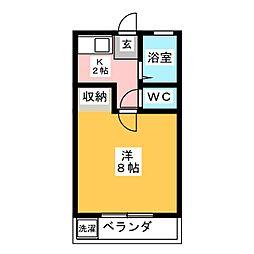 ドエルKMII[3階]の間取り
