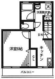 ラクレール王子神谷[2階]の間取り