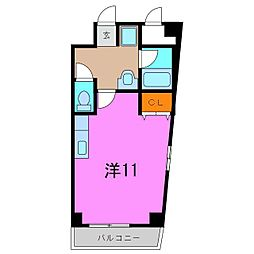 東海市 プリミエールKII[3階]の間取り