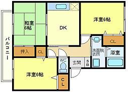メゾン桃山台[2階]の間取り