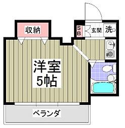 神奈川県海老名市上今泉6丁目の賃貸アパートの間取り