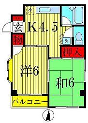 秋山コーポ[2階]の間取り