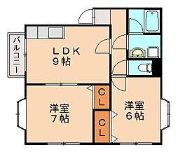 ローテンブルクハウスB棟[1階]の間取り