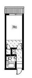 ヒルホームズ大倉山[205号室号室]の間取り