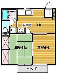 パークサイド美杉台[2階]の間取り