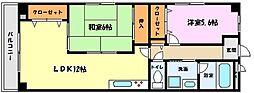 兵庫県神戸市東灘区住吉宮町5丁目の賃貸マンションの間取り