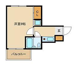 兵庫県尼崎市水堂町2丁目の賃貸マンションの間取り