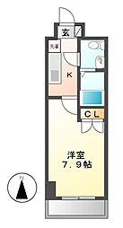 ラウレール名駅南[8階]の間取り