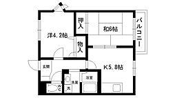 サンシャイン夙川[101号室]の間取り