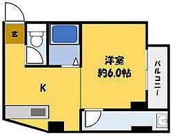 サン上島[4階]の間取り