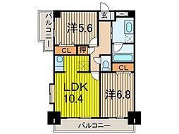 フォルテ住宅館[2階]の間取り