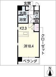 カサグランデ新栄[2階]の間取り