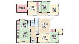 [一戸建] 兵庫県川西市緑台4丁目 の賃貸【兵庫県 / 川西市】の間取り